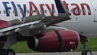 Fly Arystan Airbus 320 landing