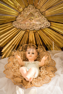 Baby Jesus in his crib