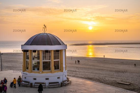 Golden Sunset at the music pavillon of Borkum