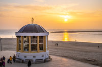 Golden Sunset at the music pavillon of Borkum