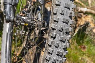 Reifenprofil eines Mountainbikes