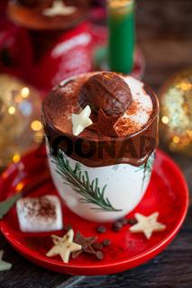 Heisse Schokolade zu Weihnachten