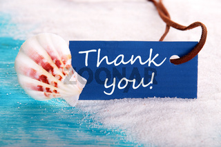 Sea Label with Thank You on it