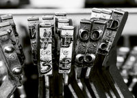 # FOOD  with old typewriter macro monochrome