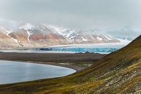 Glacier on Spitsbergen, Norway