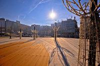 Belgrade. Slavija square in Beograd nature and architecture view