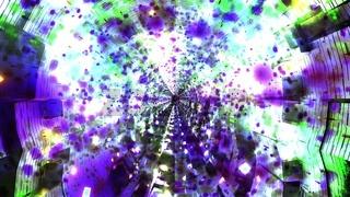 Colorful shadow tunnel 3d illustration vfx background wallpaper artwork
