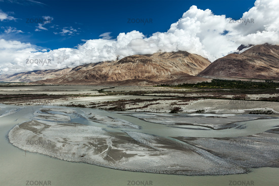 Landscape of Nubra Valley in Himalayas