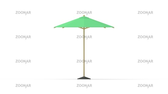 3D rendering of a parasol umbrella summer sun protection rain isolated