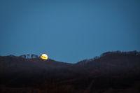 Moonrise above Leithagebirge in Burgenland