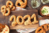 Pretzels with sesame