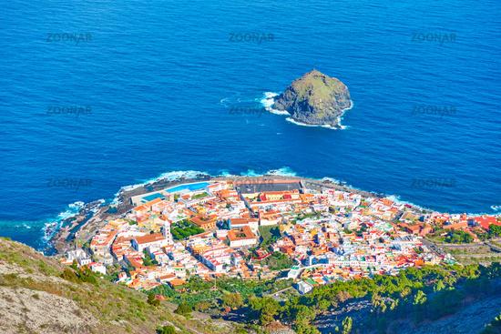 Garachico town by the ocean in Tenerife