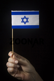 Hand with flag of Israel