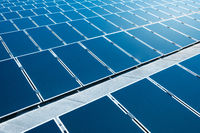 solar panels closeup photovoltaic  power plant -