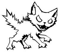 Feral Cat Line Cartoon