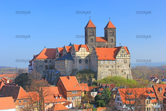 The castle hill Quedlinburg, Germany