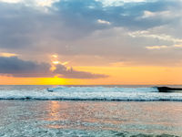 Amazing sunset view on Indian ocean at Bali, Indonesia