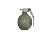 Hand grenades with locking ring