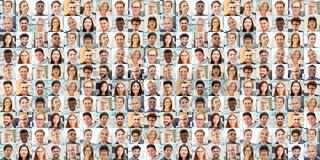 Panorama Collage Business Arbeitskollegen