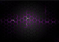 Black Hexagonal Pattern on Purple Magma Background