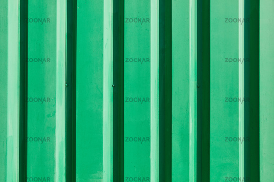 Metall Hintergrund Textur von einem grünen Container