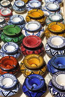 Colorful traditional ashtrays in Marrakesh