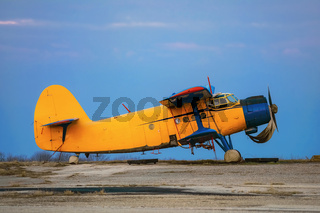 Old Airplane on the Airfield