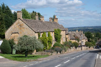 Looking down the main street of Bourton on the Hill