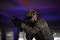 modern warfare soldier in urban environment battlefield