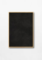 Traditional black board isolated on a white background