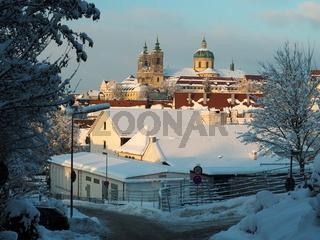 Basilika in Weingarten (Württ.) im Schnee