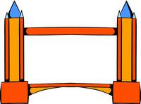 Tower Bridge in London icon, icon cartoon