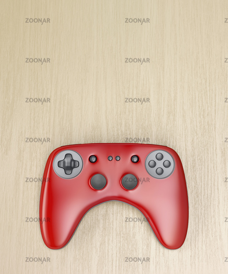 Red wireless gaming controller