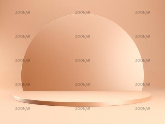 mockup podium abstract geometric design