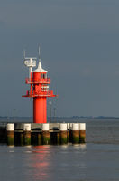 Red Lighthouse at Kiel Canal in Brunsbuettel, Germany