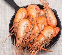 Prepared shrimps