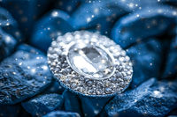 Luxury diamond earrings closeup, jewelry and fashion brand