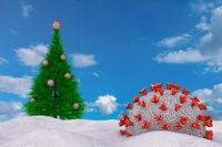 Coronavirus and Christmas tree
