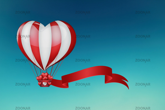 heart hot air balloon