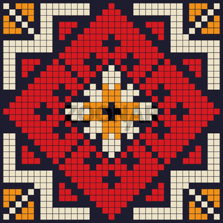 Romanian traditional pattern 187