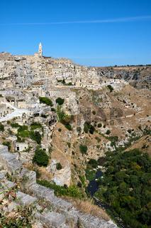 Blick auf die historische Altstadt von Matera