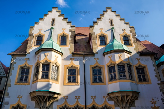 Halle Saale, Germany - 17.06.2019 - facade on the moritzburg