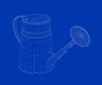 3d model of watering can