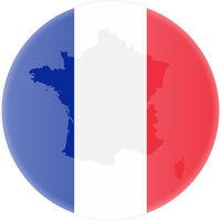 round french flag and map of france outline sticker