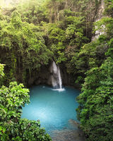 Kawasan Falls, Cebu, The Philippines - Aerial Photograph