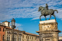 padua, italy - 03/19/2019 - equestrian statue of the gattamelata from 1447