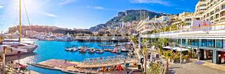 Monte Carlo yachting harbor and waterfront amazing panoramic view