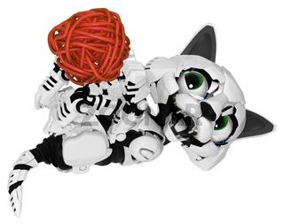 Robotic Kitten, String Ball