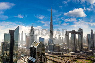 Aerial view of downtown Dubai
