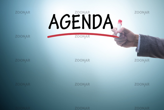 Agenda of a meeting with few items